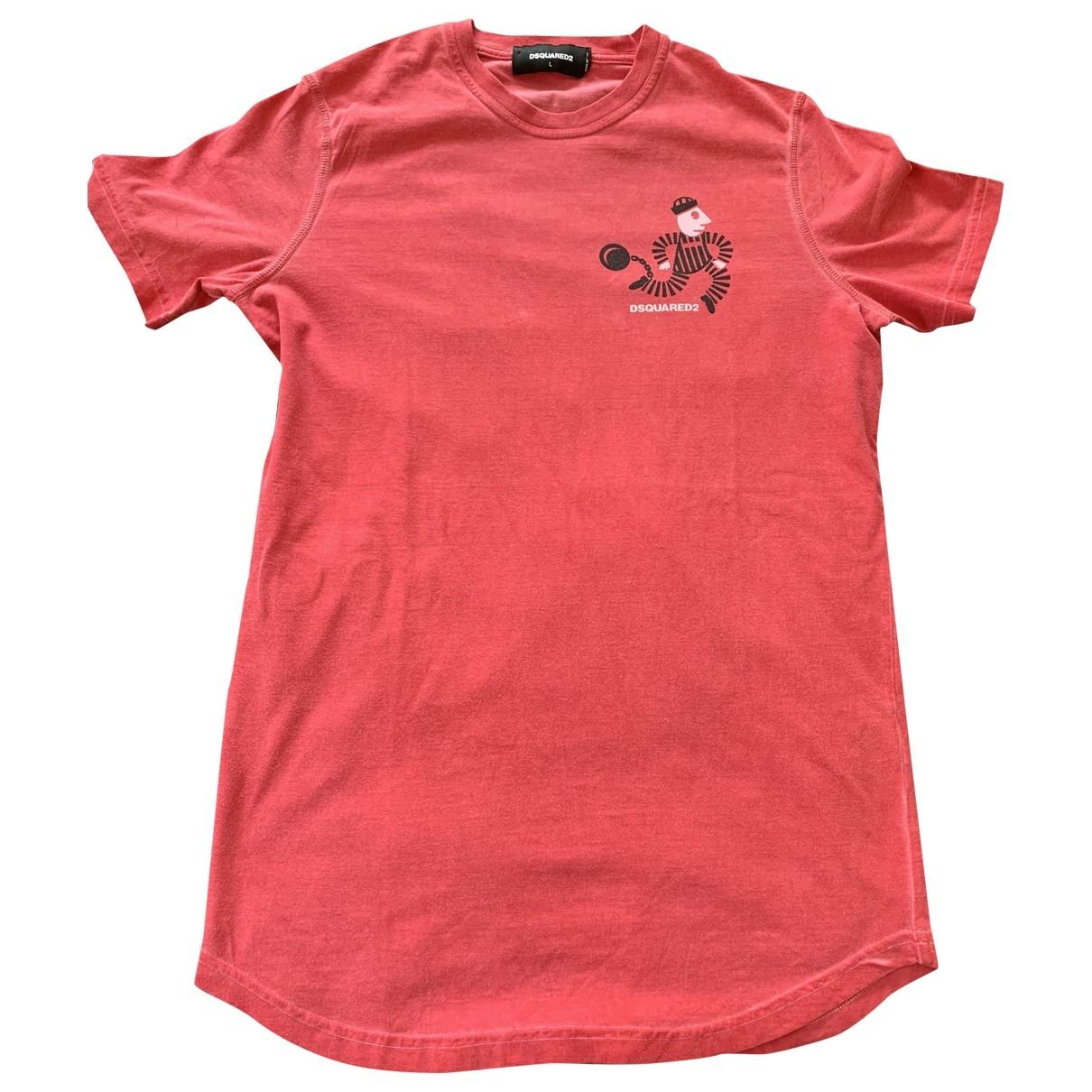 Dsquared2 - Tee shirts   pour homme en coton - orange