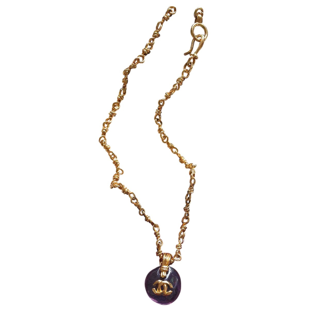 Chanel CC Purple Gold plated necklace for Women \N
