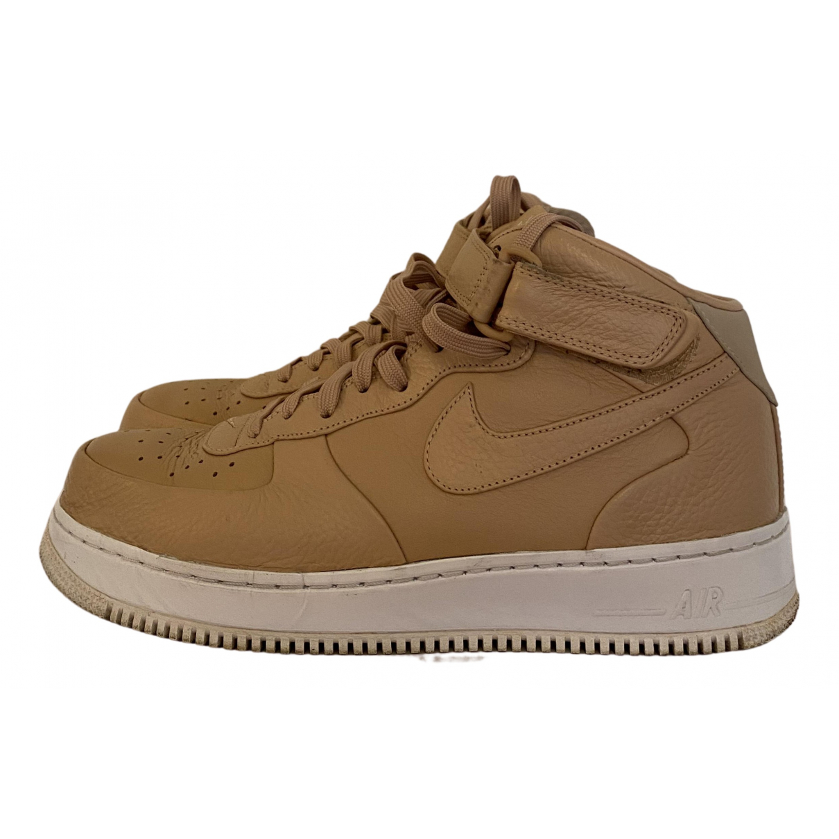Nike Air Force 1 Khaki Leather Trainers for Men 10 US