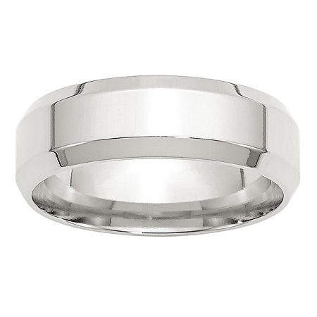Personalized 7MM Sterling Silver Wedding Band, 6 , No Color Family