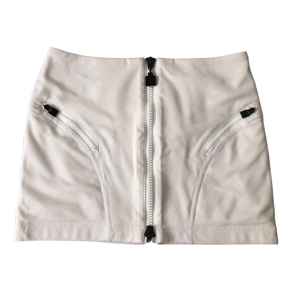 Chanel \N White Cotton skirt for Women 36 FR