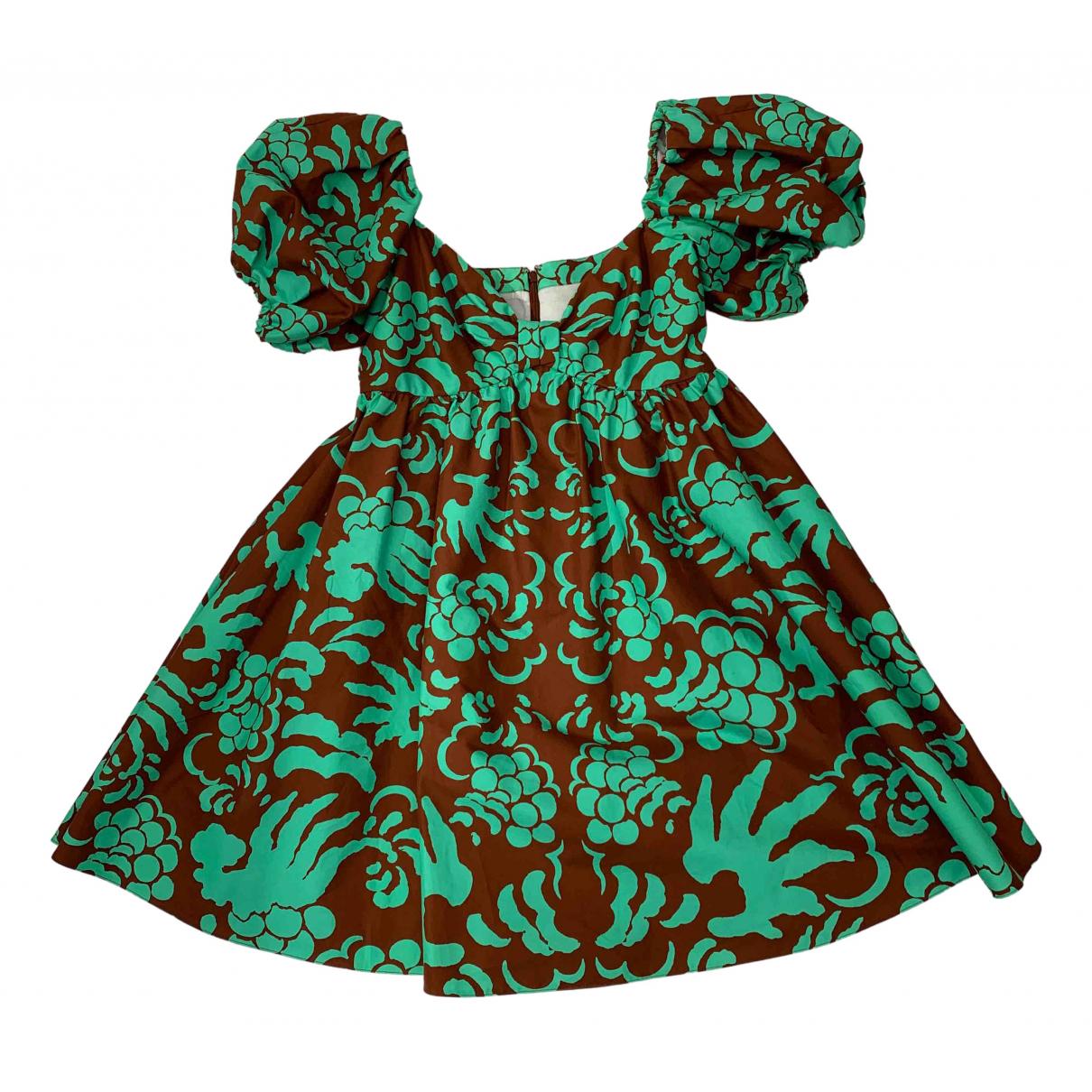 Valentino Garavani \N Kleid in  Gruen Baumwolle