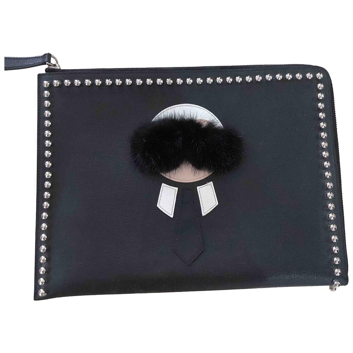 Fendi \N Kleinlederwaren in  Schwarz Leder