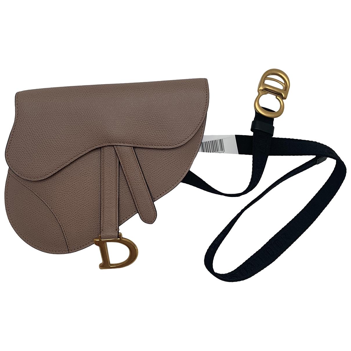 Dior Saddle Beige Leather Clutch bag for Women \N