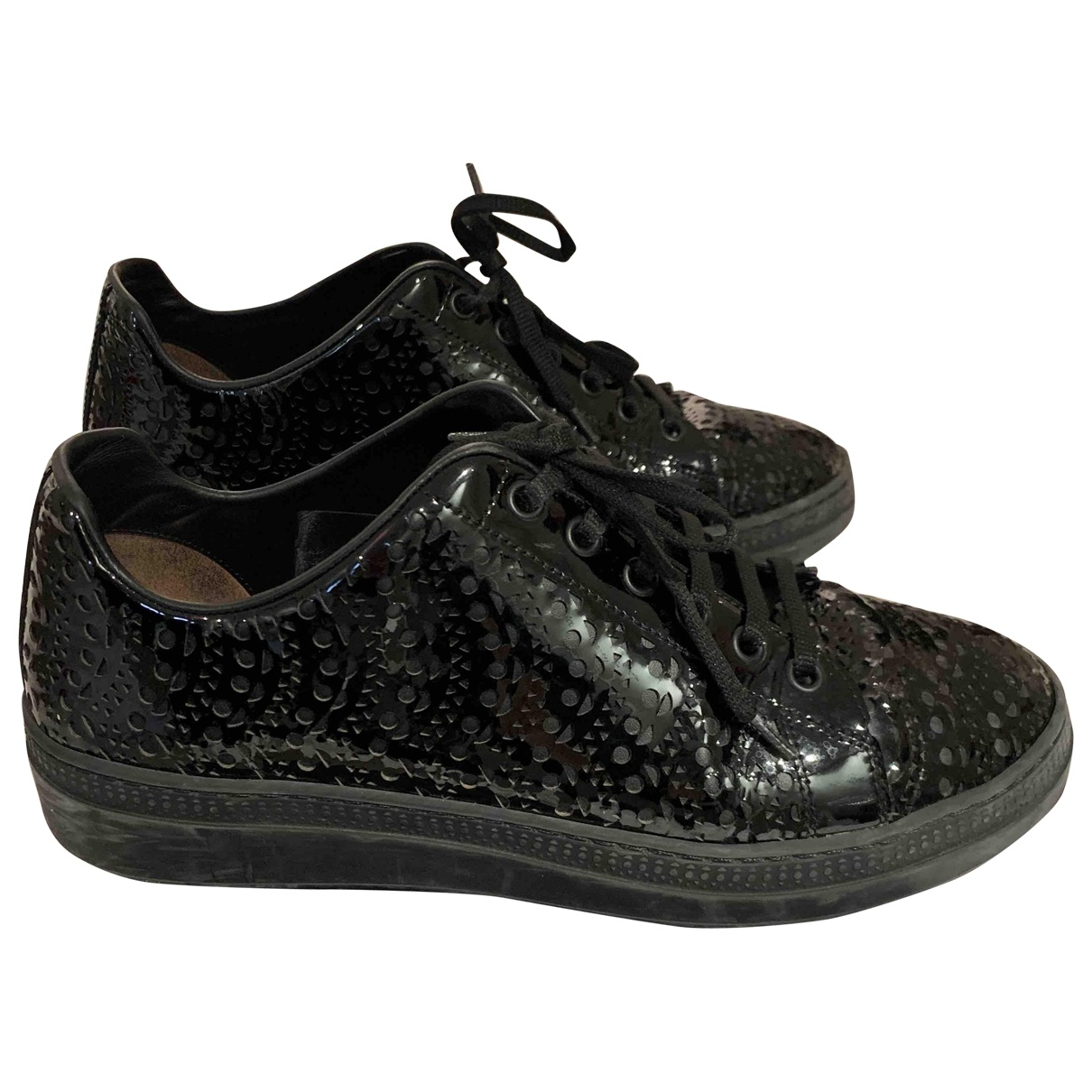 Alaïa \N Black Patent leather Trainers for Women 38 EU