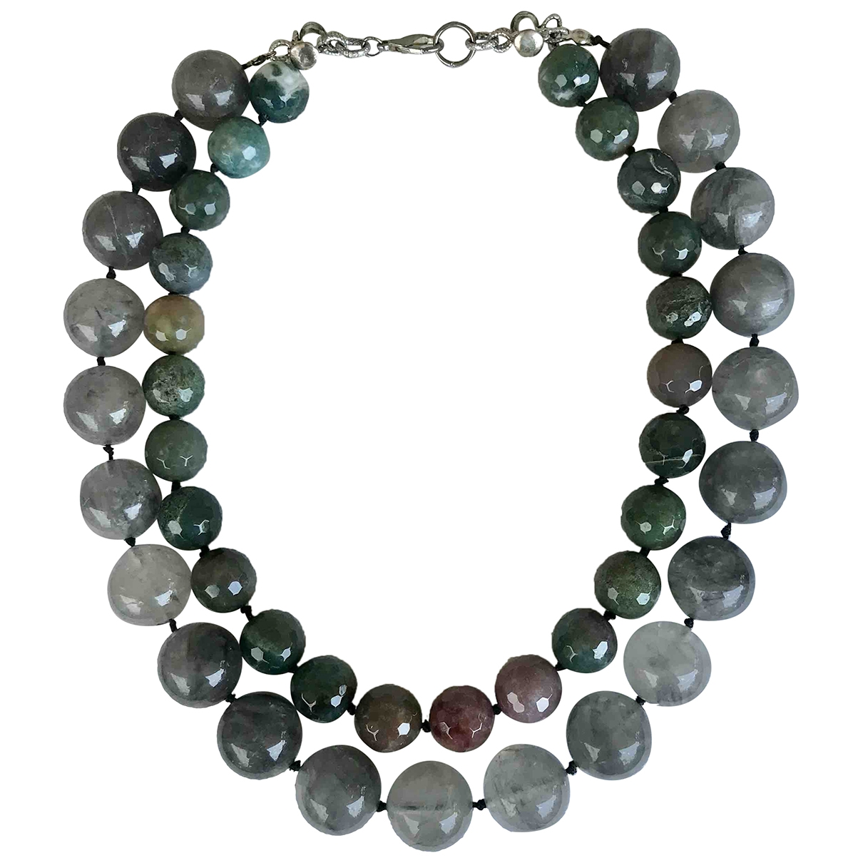 Non Signé / Unsigned Motifs Ethniques Green Pearls necklace for Women \N