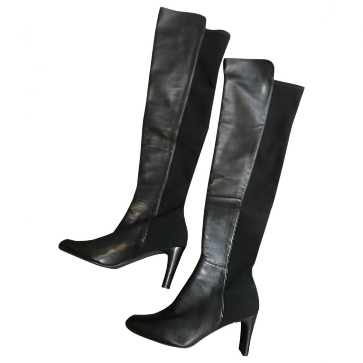 Stuart Weitzman \N Black Leather Boots for Women 10 US