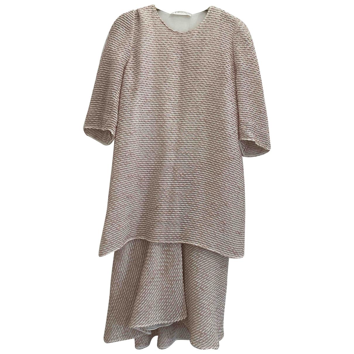 Chloe - Robe   pour femme en coton - rose
