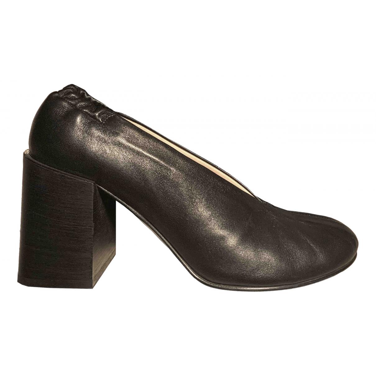 Acne Studios - Escarpins   pour femme en cuir - noir