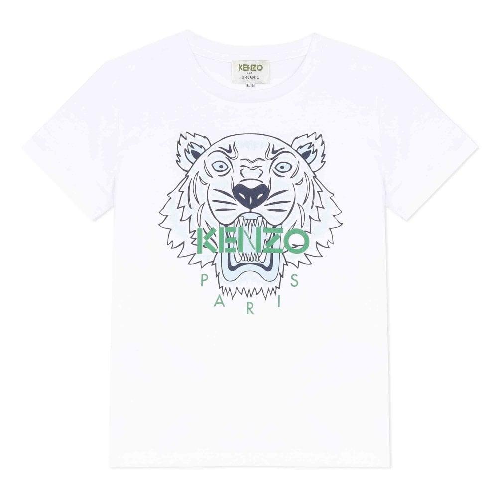 Kenzo Tiger Tshirt Size: 6 MONTHS, Colour: WHITE