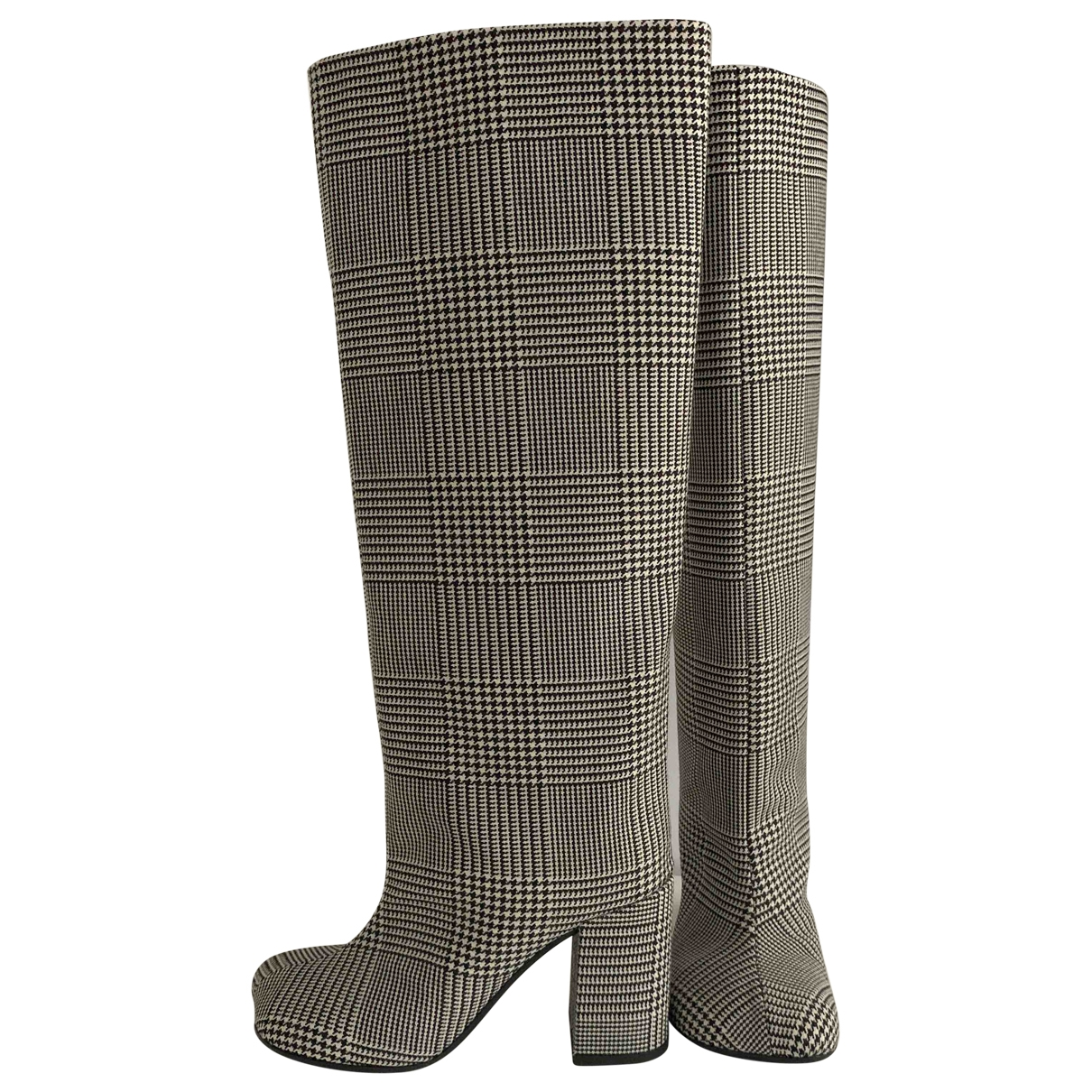 Mm6 \N Stiefel in  Grau Leder