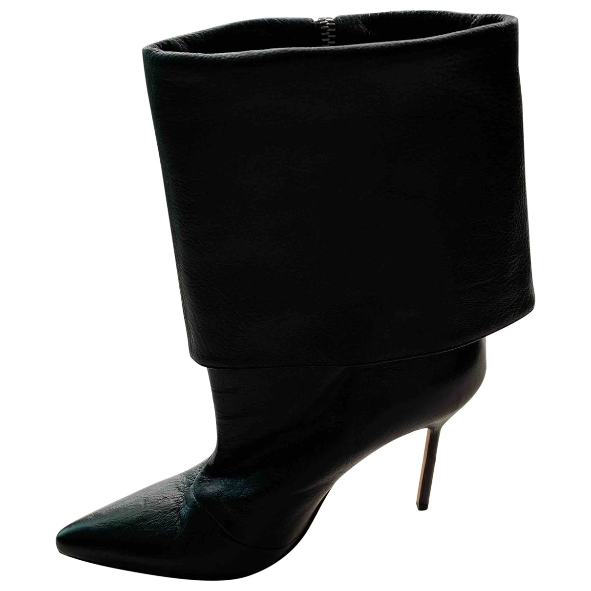 Manolo Blahnik \N Black Leather Boots for Women 37 EU