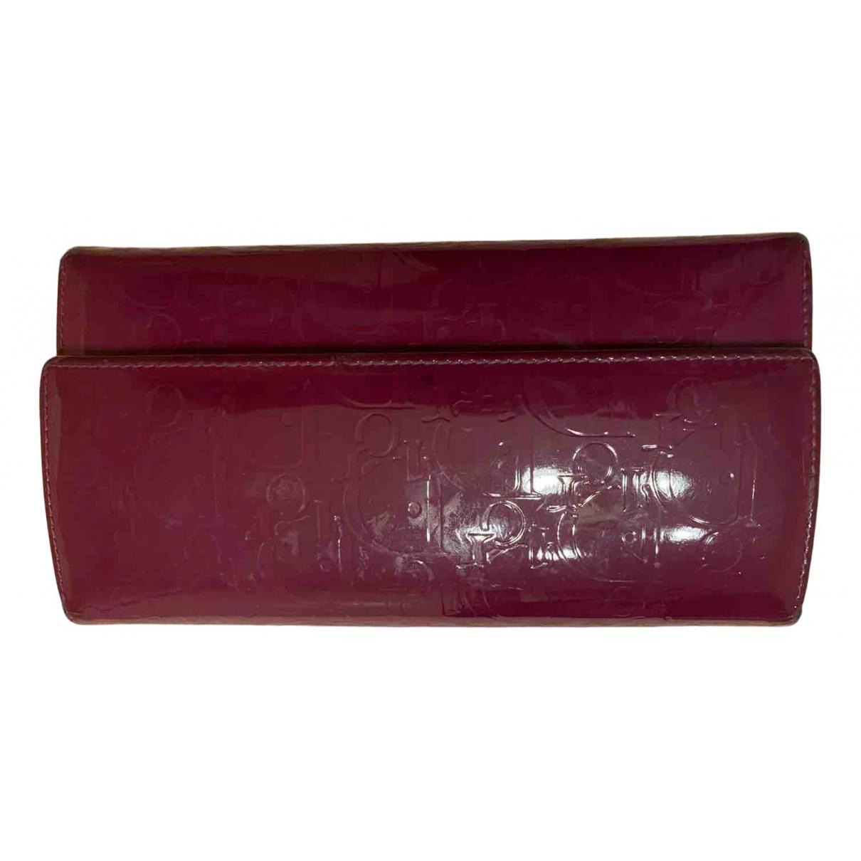 Dior - Portefeuille   pour femme en cuir verni - violet