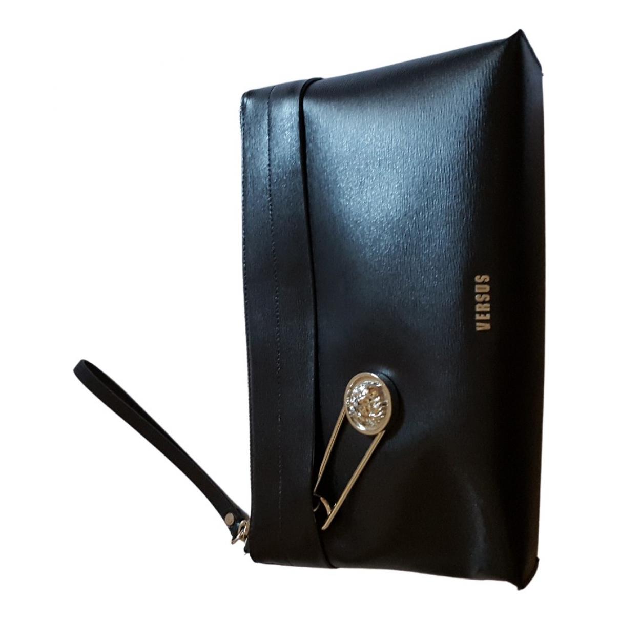 Versus - Pochette   pour femme en cuir - noir