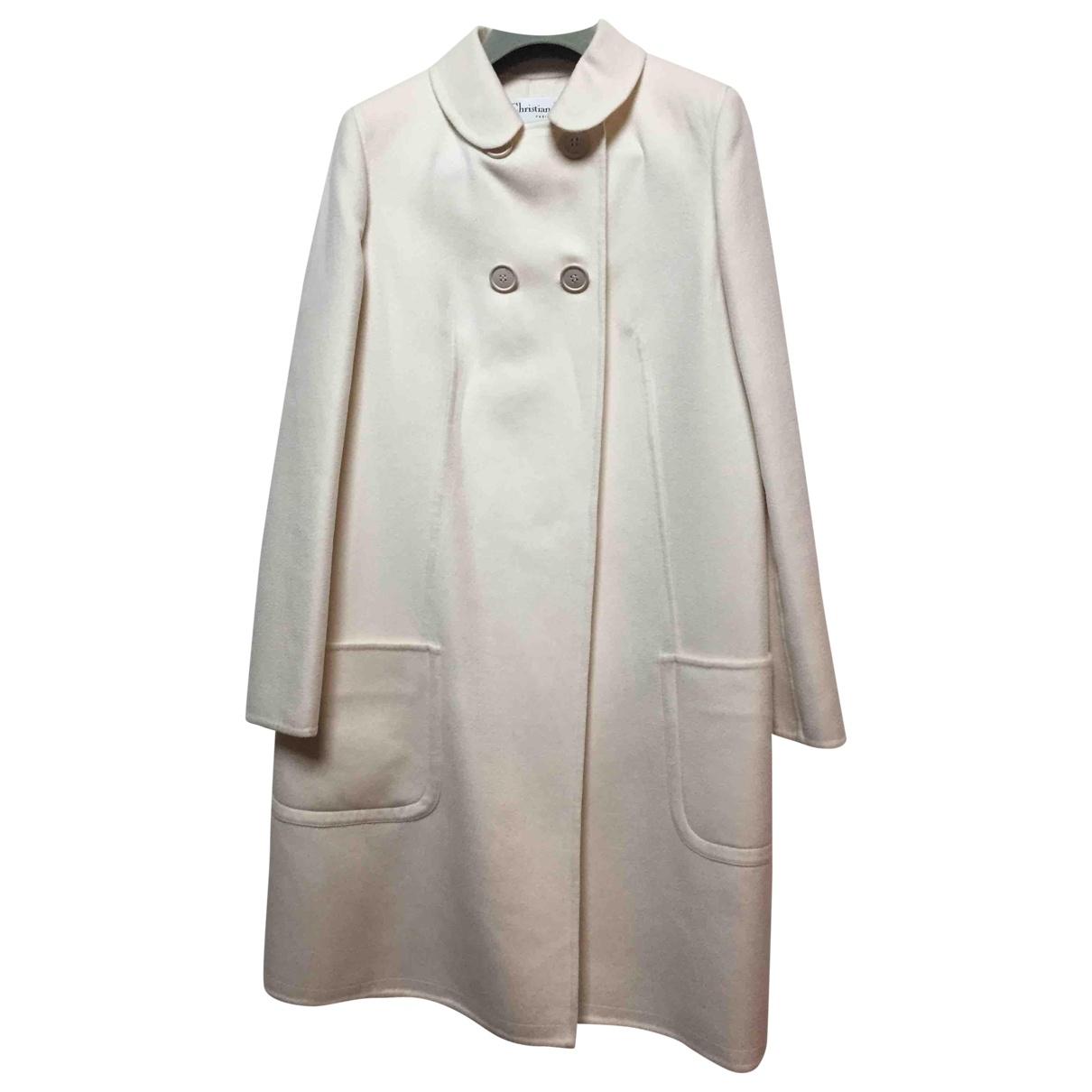 Dior - Manteau   pour femme en cachemire - ecru