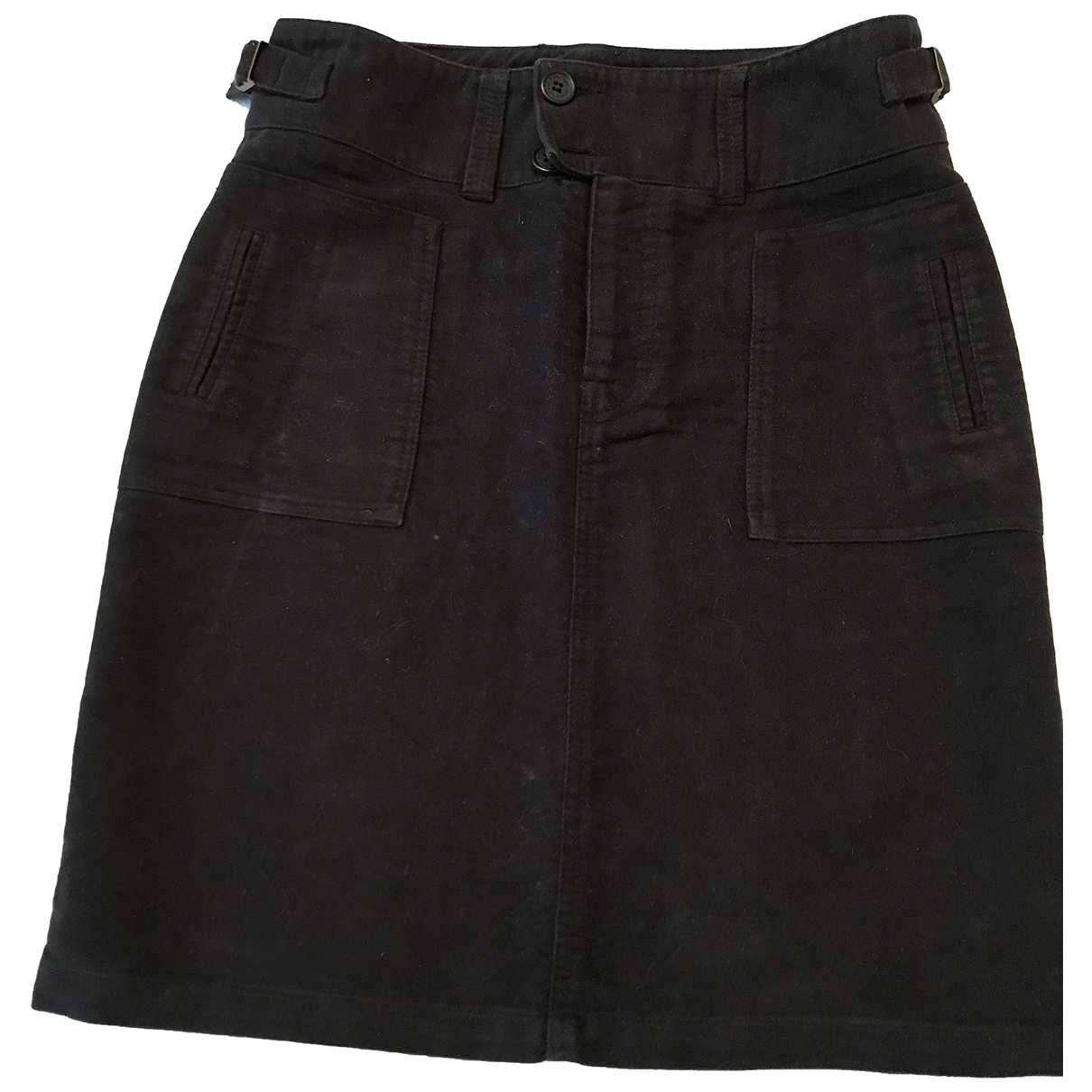 Non Signé / Unsigned N Black Cotton skirt for Women 6 US