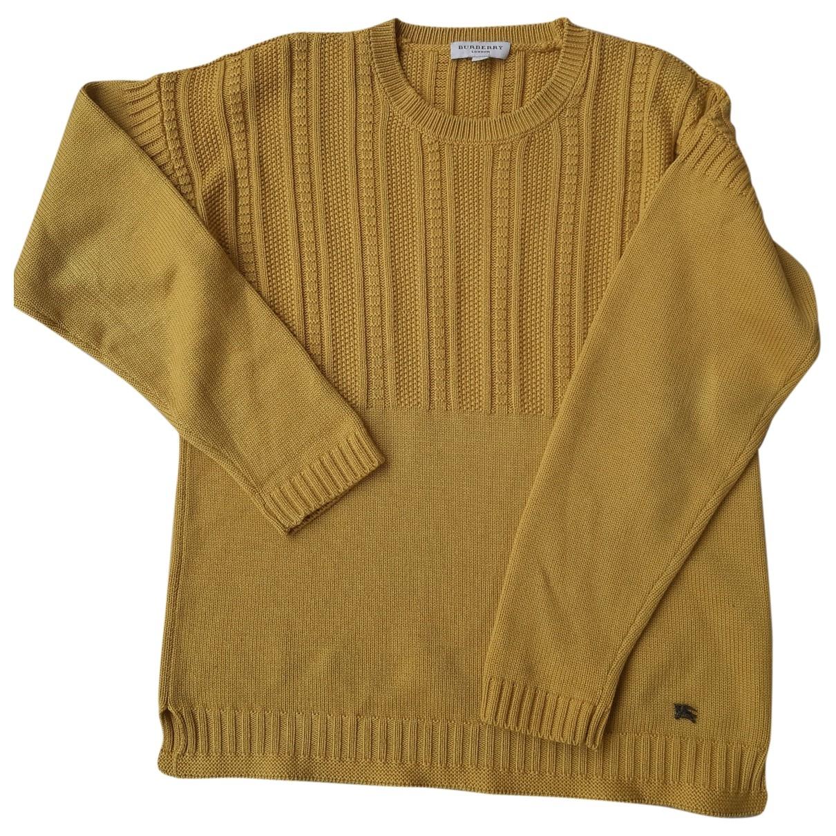 Burberry \N Yellow Cotton Knitwear for Women L International
