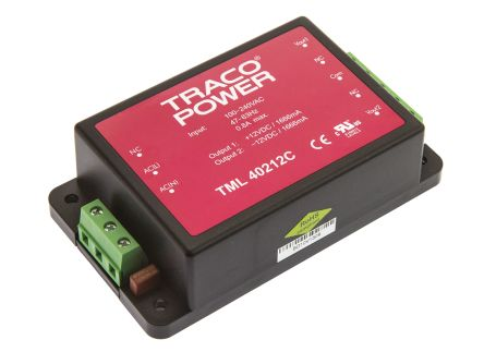 TRACOPOWER , 40W Embedded Switch Mode Power Supply SMPS, ±12V dc, Encapsulated