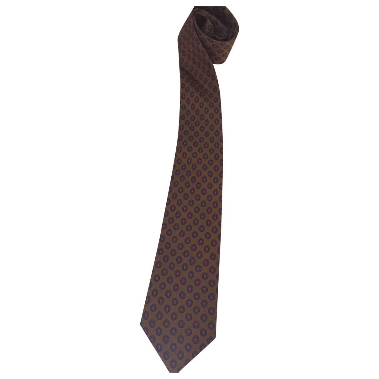 Burberry - Cravates   pour homme en soie - camel