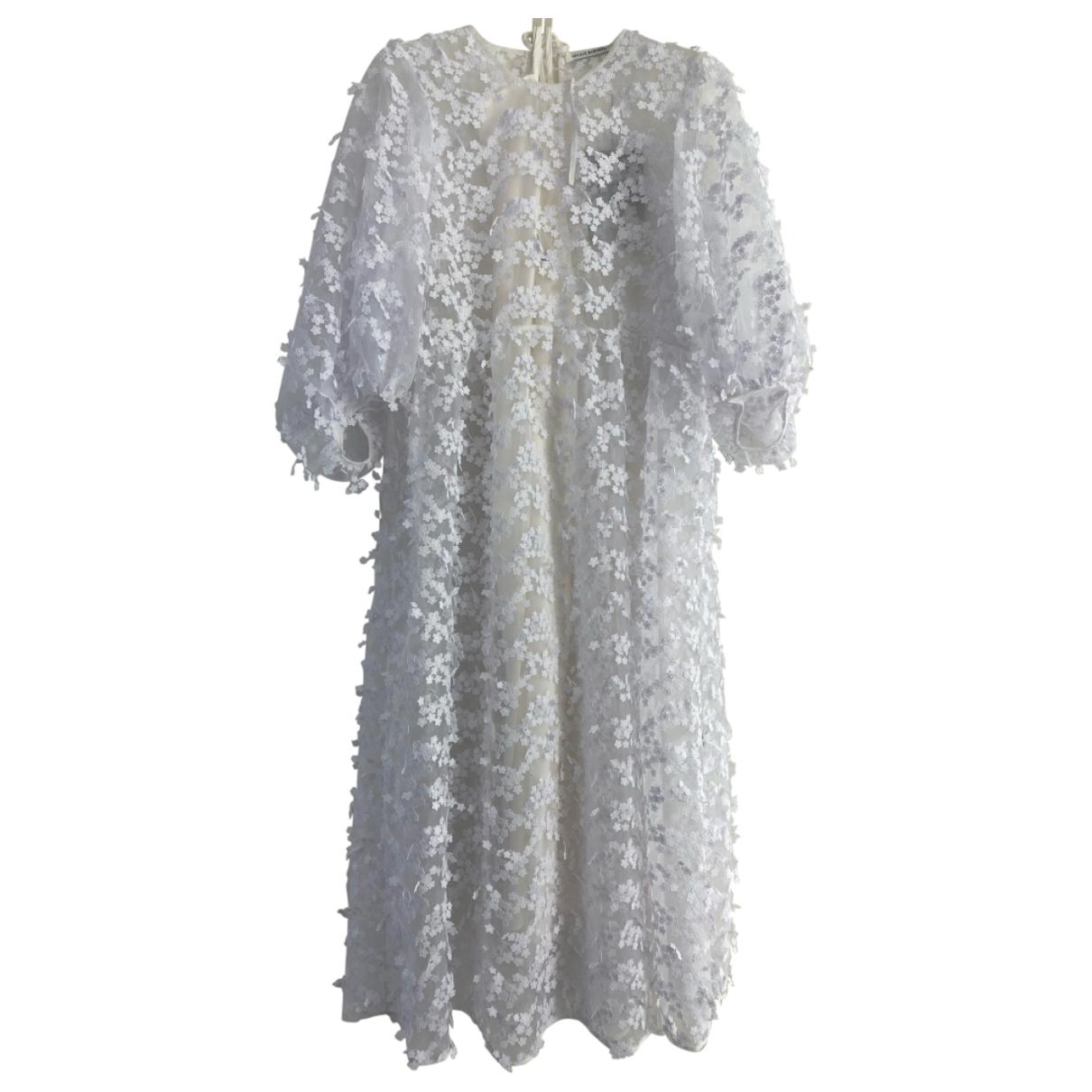 Cecilie Bahnsen \N Kleid in  Weiss Seide