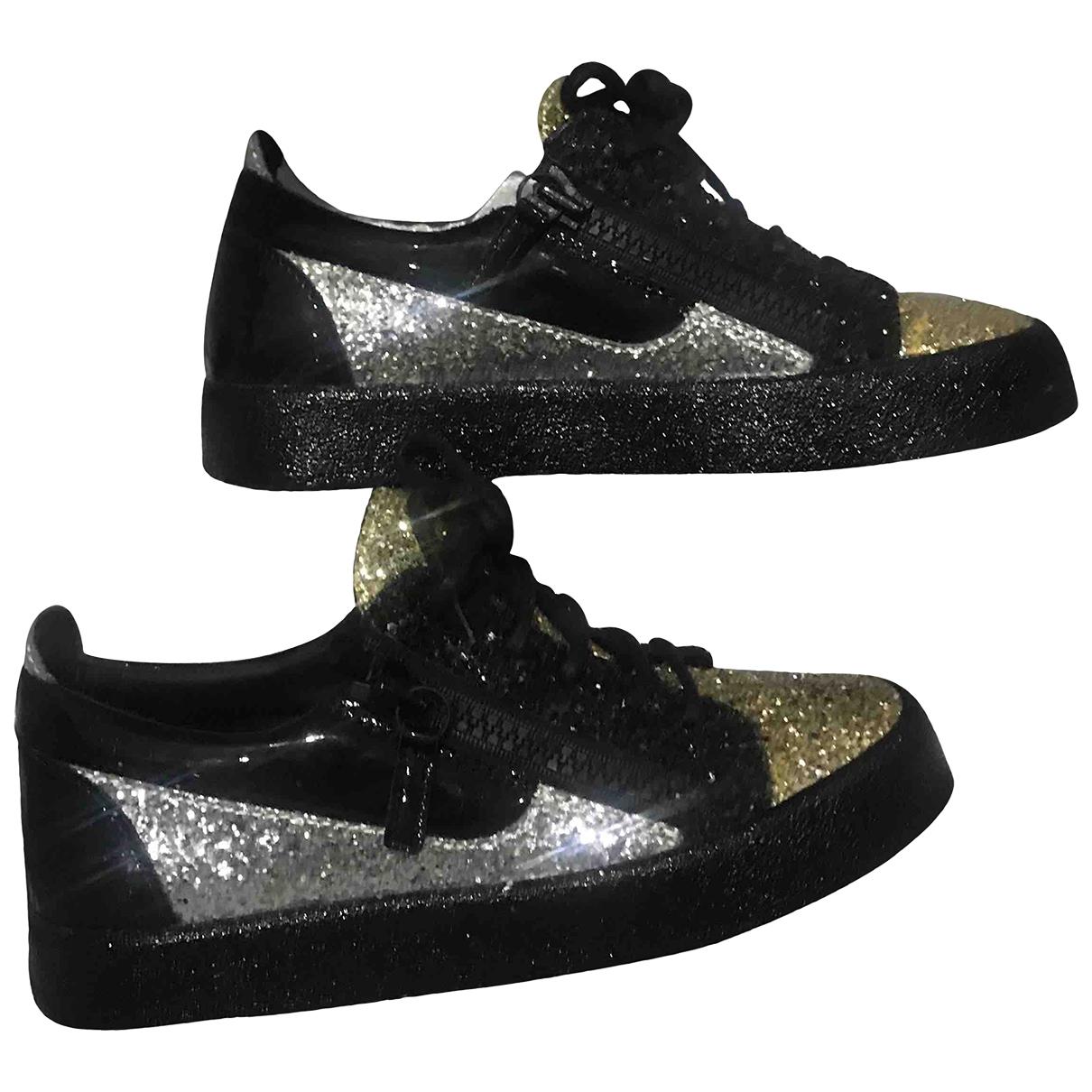Giuseppe Zanotti Donna Sneakers in  Gold Mit Pailletten