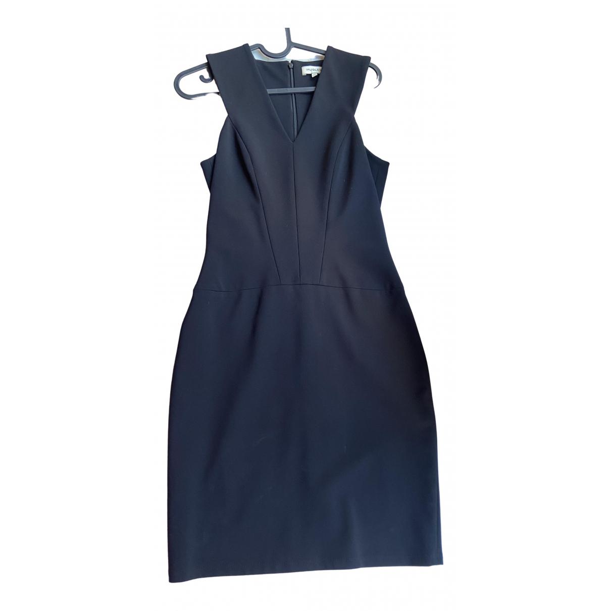 Mugler \N Kleid in  Blau Viskose