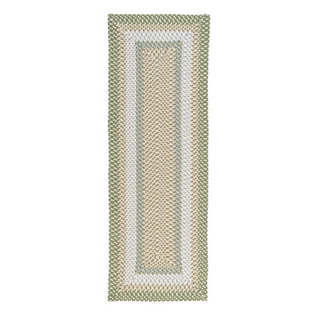 Colonial Mills Montego Reversible Braided Indoor/Outdoor Runner Rugs, One Size , Green