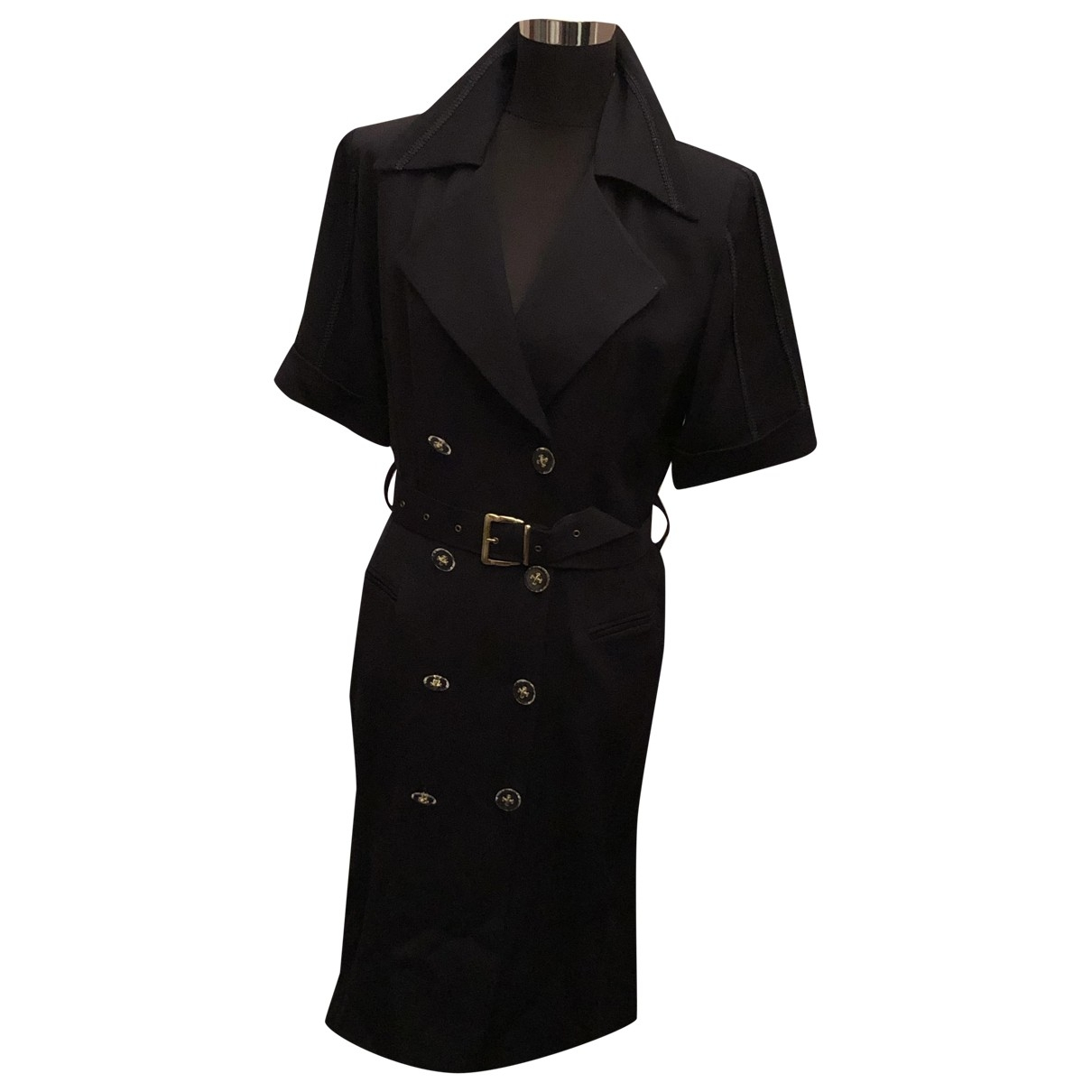 Balmain \N Kleid in  Marine Polyester
