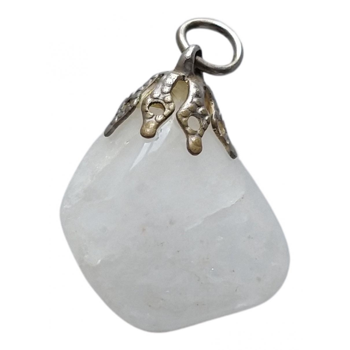 - Pendentif   pour femme en cristal - blanc