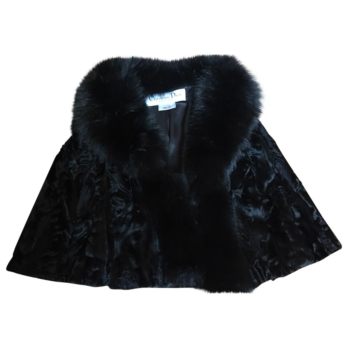 Dior - Veste   pour femme en fourrure - noir