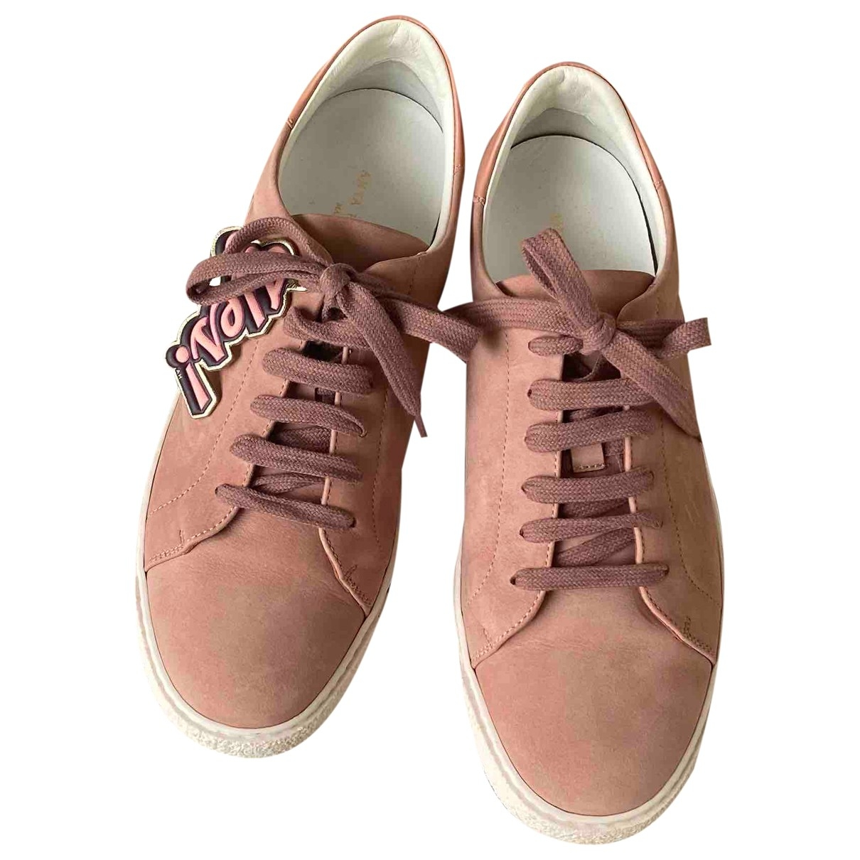 Anya Hindmarch \N Sneakers in  Rosa Veloursleder