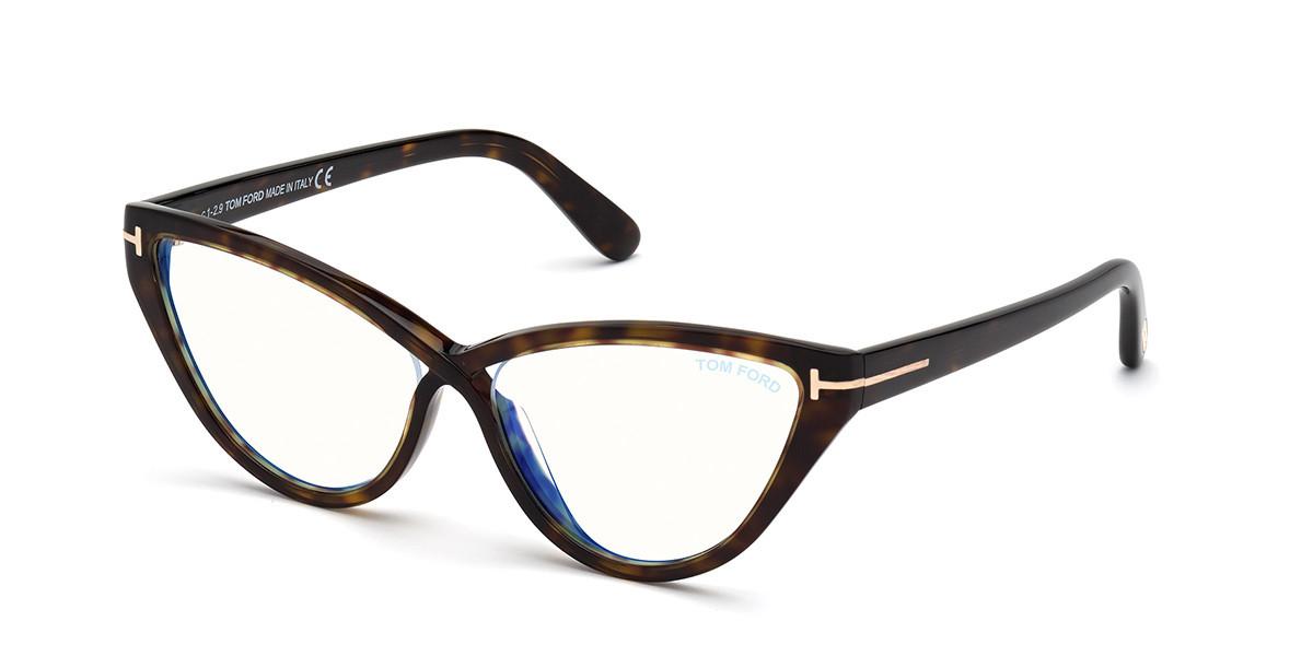 Tom Ford FT5729-B Blue-Light Block 052 Women's Glasses Tortoise Size 56 - Free Lenses - HSA/FSA Insurance - Blue Light Block Available