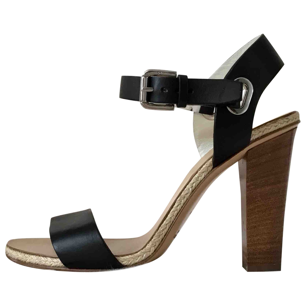 Ralph Lauren Collection \N Black Leather Sandals for Women 5.5 US