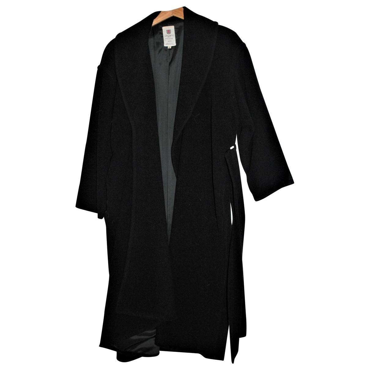 Emanuel Ungaro - Manteau   pour femme en laine - noir