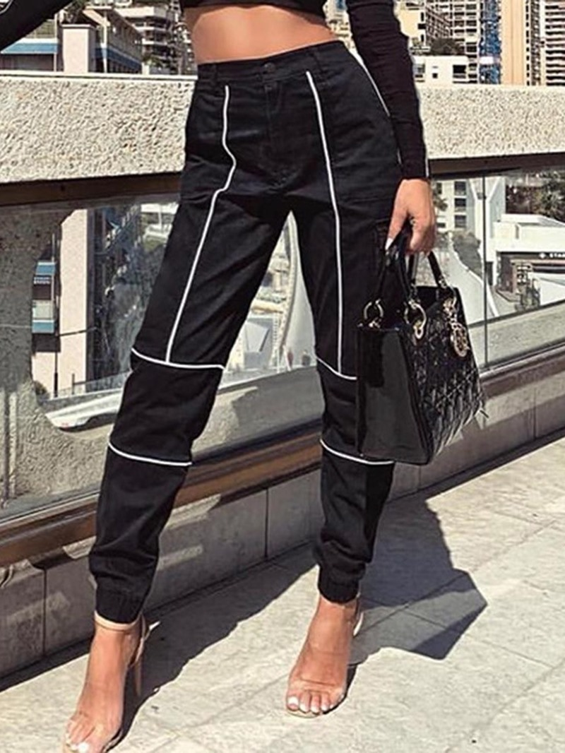 Ericdress Button Slim Ankle Length Casual Pants