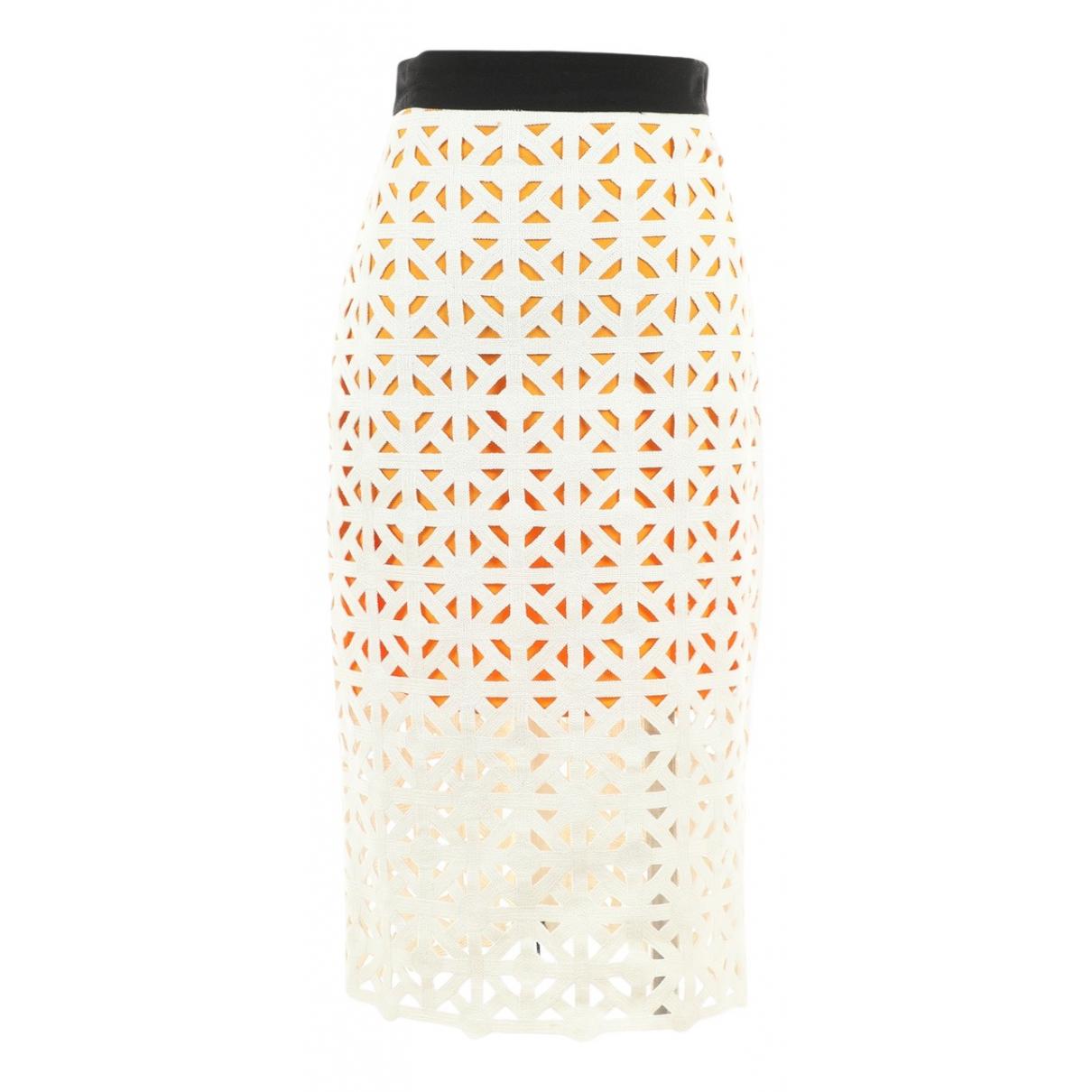 Msgm - Jupe   pour femme en coton - blanc