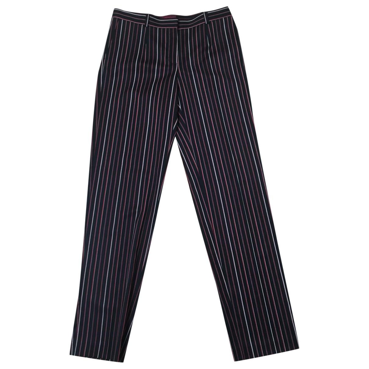 Kenzo \N Black Wool Trousers for Women 42 FR