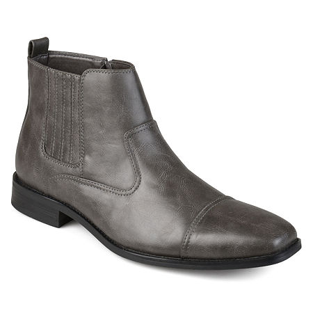 Vance Co Mens Alex Dress Boots Block Heel, 8 Medium, Gray