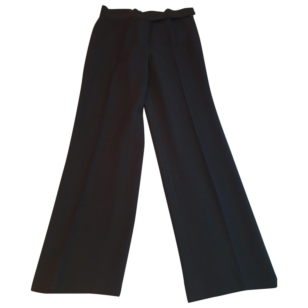 Emanuel Ungaro - Pantalon   pour femme en soie - noir