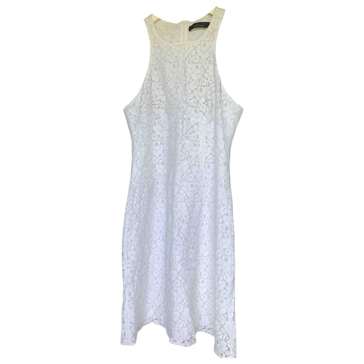Twin Set - Robe   pour femme en coton - blanc