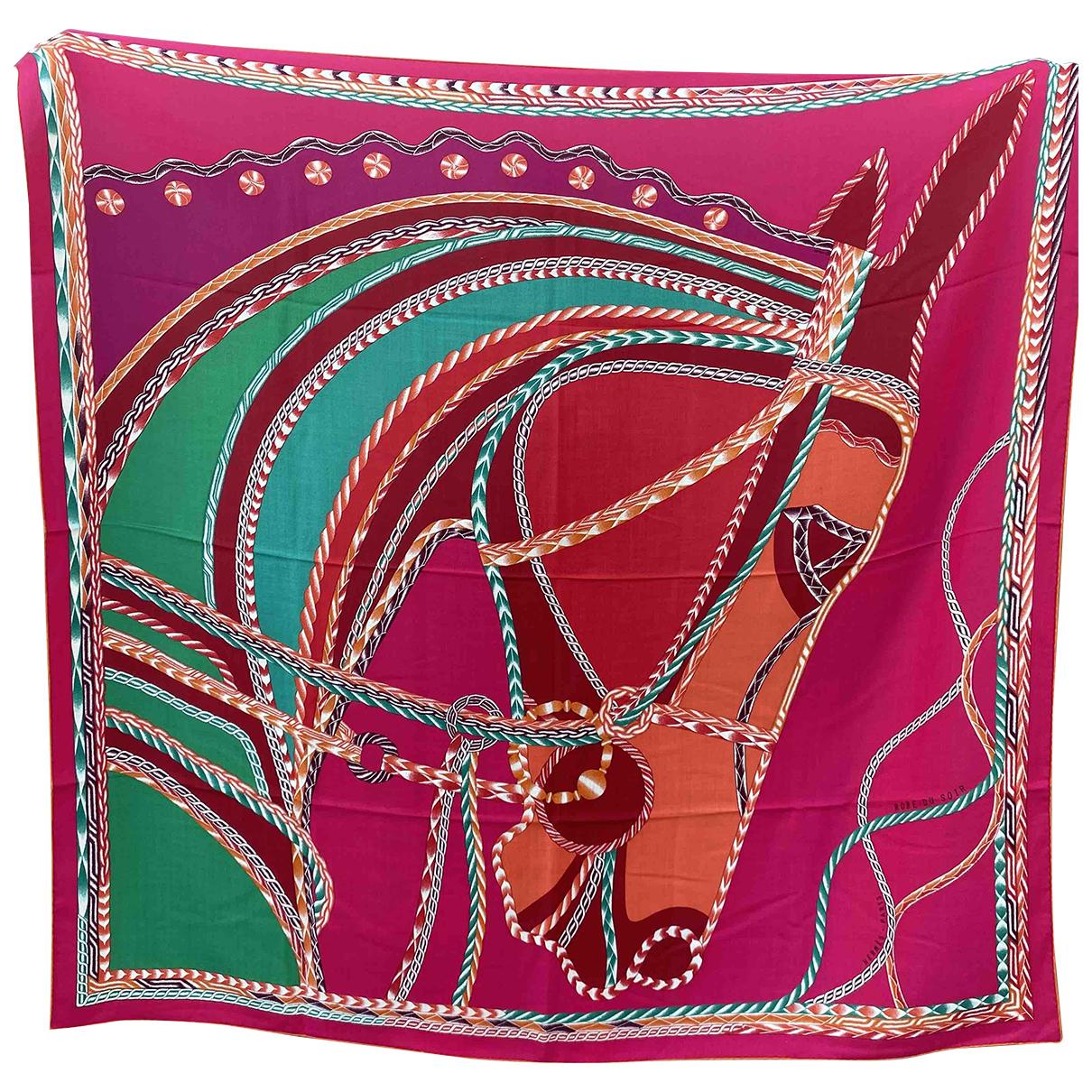Hermès Châle 140 Pink Cashmere scarf for Women N