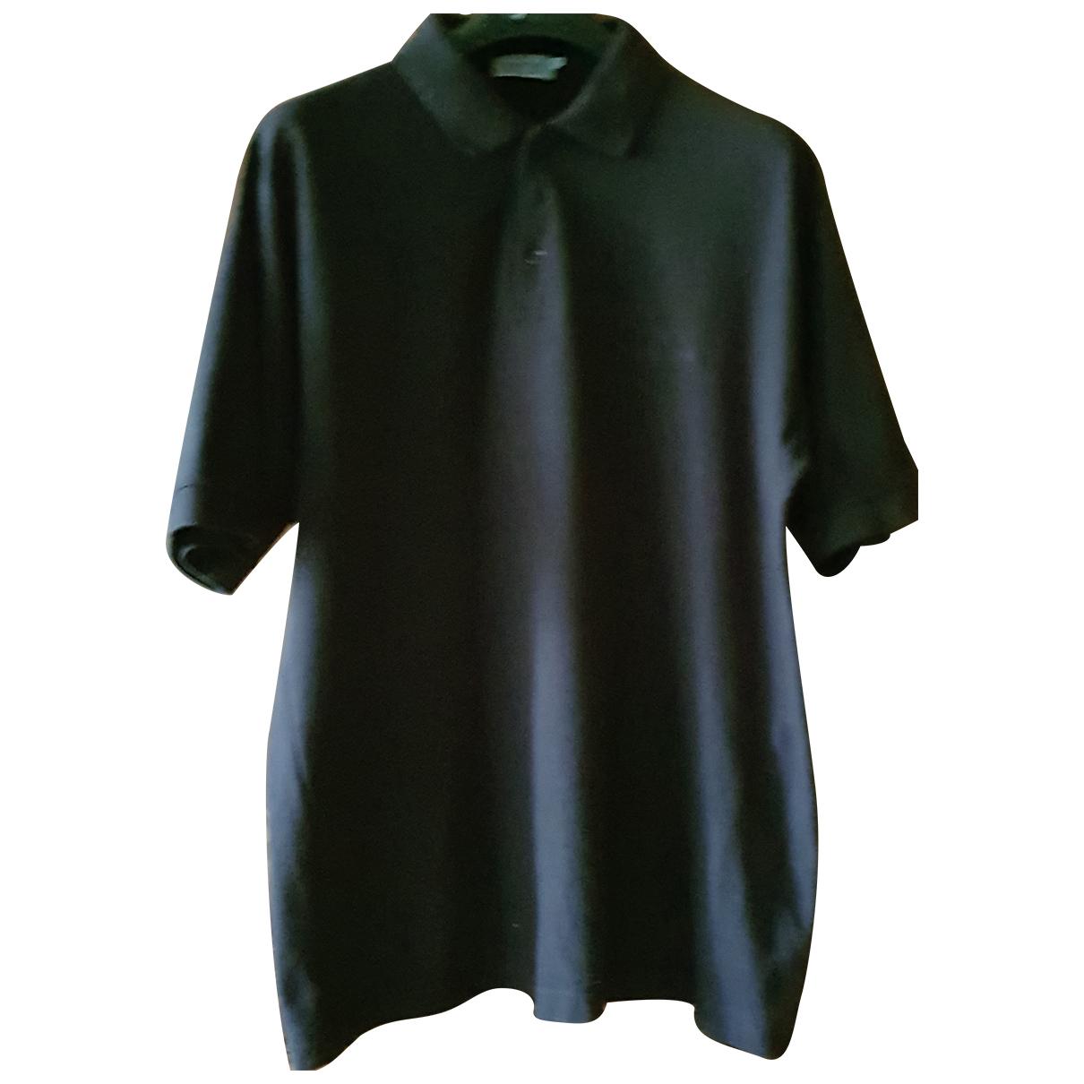 Non Signé / Unsigned Oversize Black Cotton Polo shirts for Men XL International