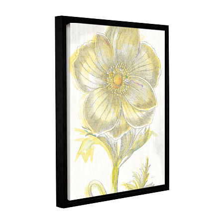 Brushstone Belle Fleur Yellow II Crop Gallery Wrapped Floater-Framed Canvas Wall Art, One Size , White