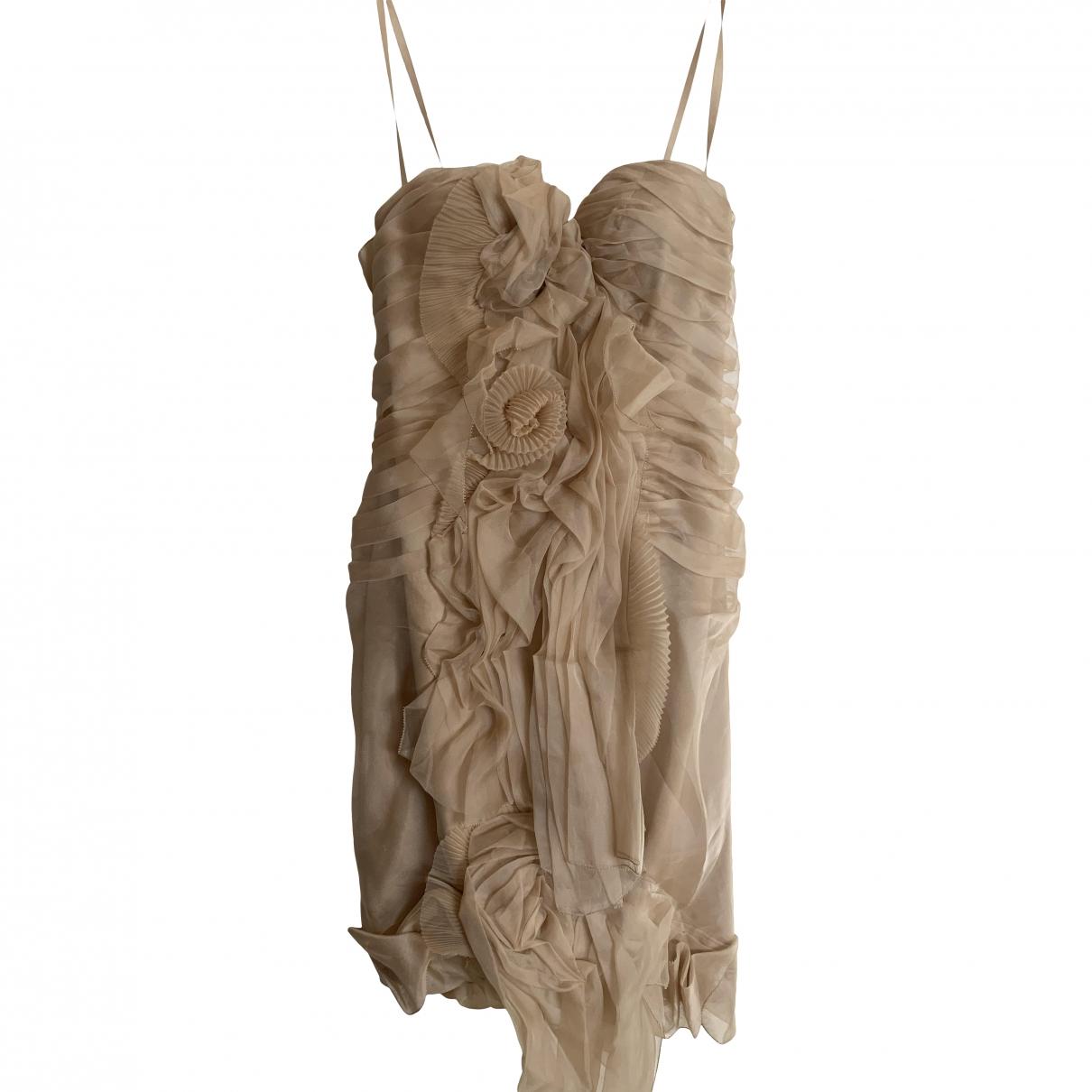 Ermanno Scervino \N Kleid in  Ecru Seide