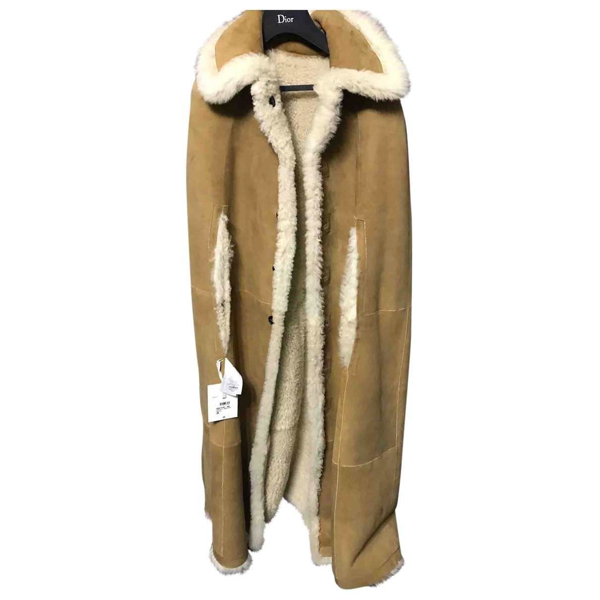 Dior - Veste   pour femme en fourrure - beige