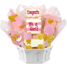It's a Girl Cookies | Baby Shower Gift