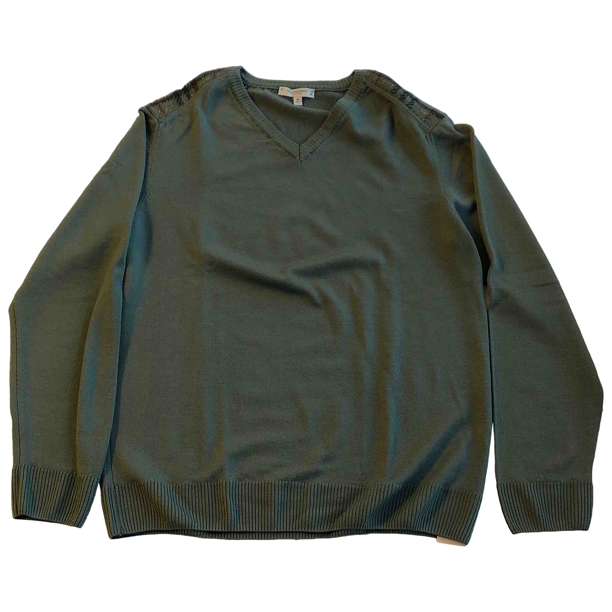 Burberry \N Pullover.Westen.Sweatshirts  in  Gruen Wolle