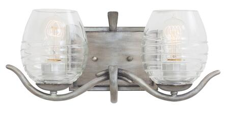 7352SM Seabrook 2-Bath Light Transitional Style  120V in Moon Silver