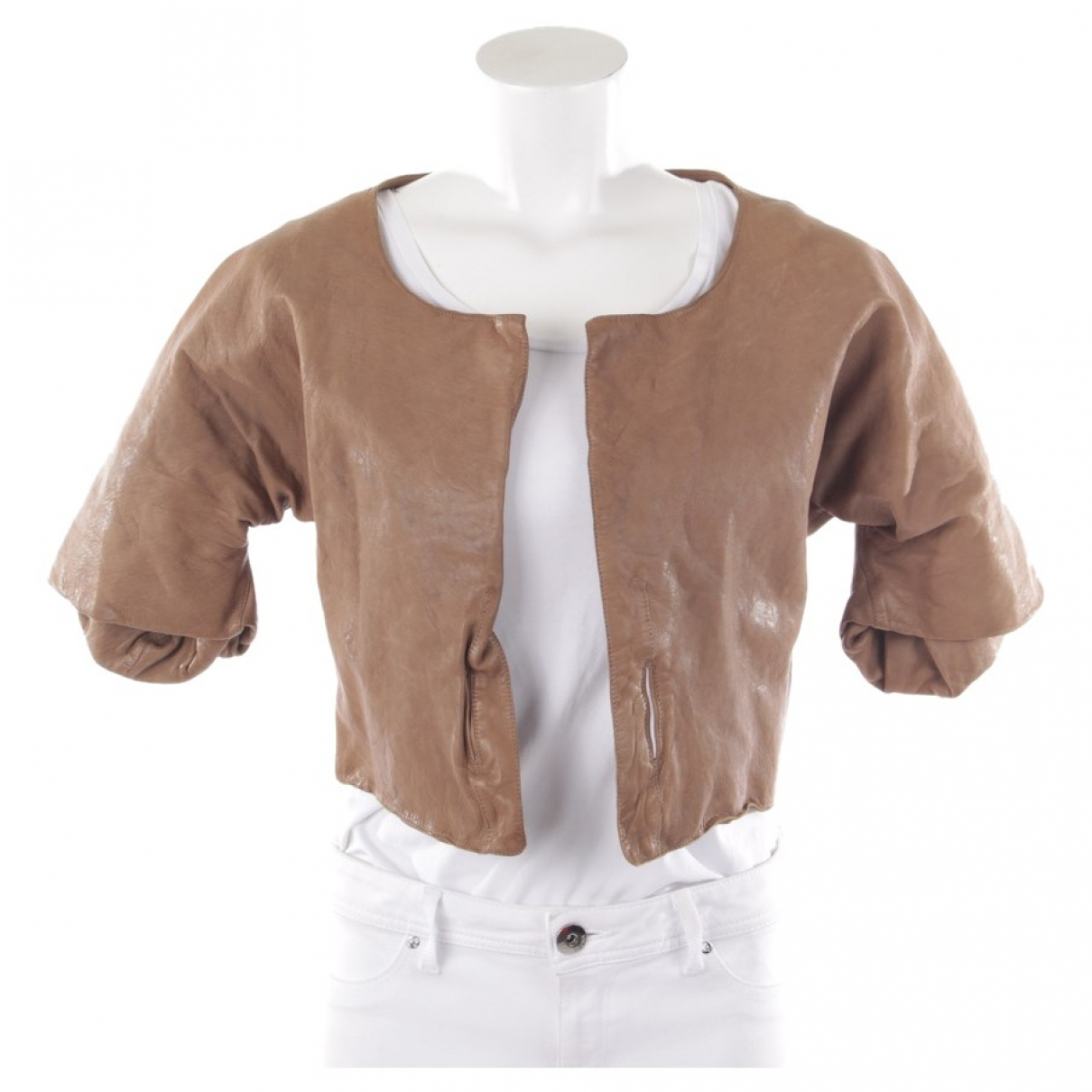 Marni \N Brown Leather jacket for Women 34 FR