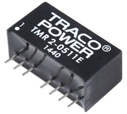 TRACOPOWER TMR 2E 2W Isolated DC-DC Converter Through Hole, Voltage in 4.5 → 9 V dc, Voltage out 5V dc